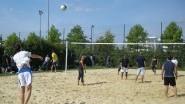 Le terrain de beach volley